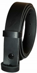20mm Black Snap Fit Leather Belt